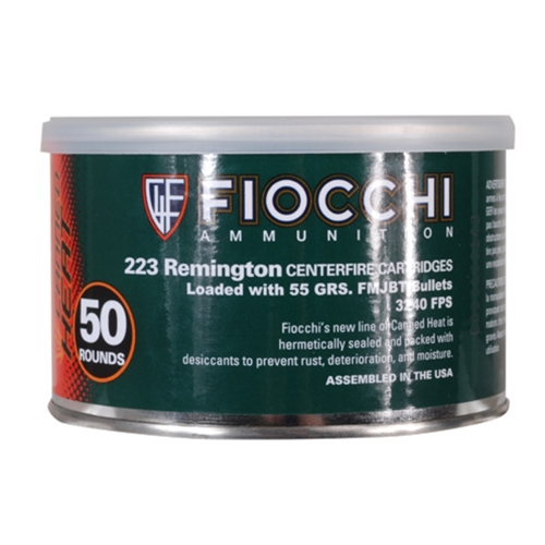 1000 Rounds of 55gr FMJBT .223 Ammo by Fiocchi Canned Heat