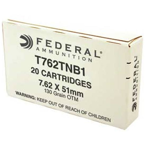 Federal Lake City 7.62x51mm NATO 130 Grain MK319 Barrier Blind OTM