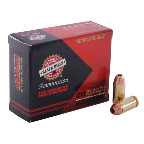 Black Hills 40 S&W Ammo 155 Grain Jacketed Hollow Point