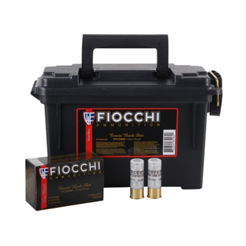 "Fiocchi Low Recoil 12 Gauge 2-3/4"" 1 1/4oz. #4 Lead Shot Ammunition"