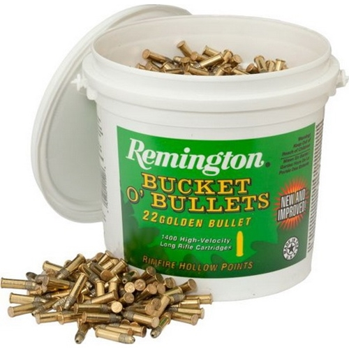 Remington 22 Long Rifle Ammo 36 Grain Plated Lead Hollow Point Bullet Bucket