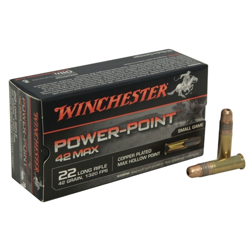 Winchester 42 Max 22 Long Rifle Ammo 42 Grain Power-Point
