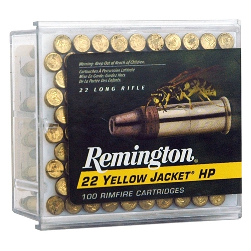 Remington Yellow Jacket HV 22 LR 33 Gr. Plated Truncated Cone HP