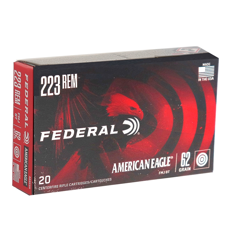 Federal American Eagle 223 Remington Ammo 62 Grain FMJ
