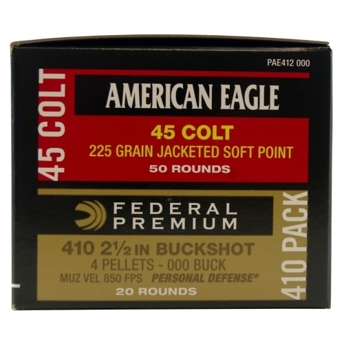 Federal American Eagle 45 Long Colt/ 410 Gauge Ammo Combo Pack