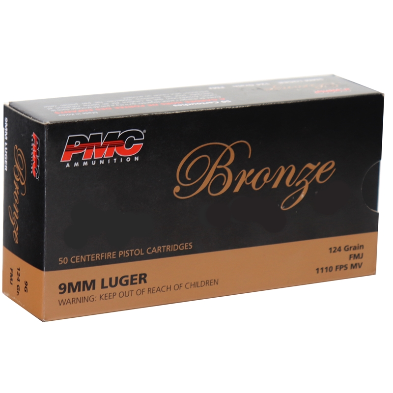 PMC Bronze 9mm Luger Ammo 124 Grain Full Metal Jacket