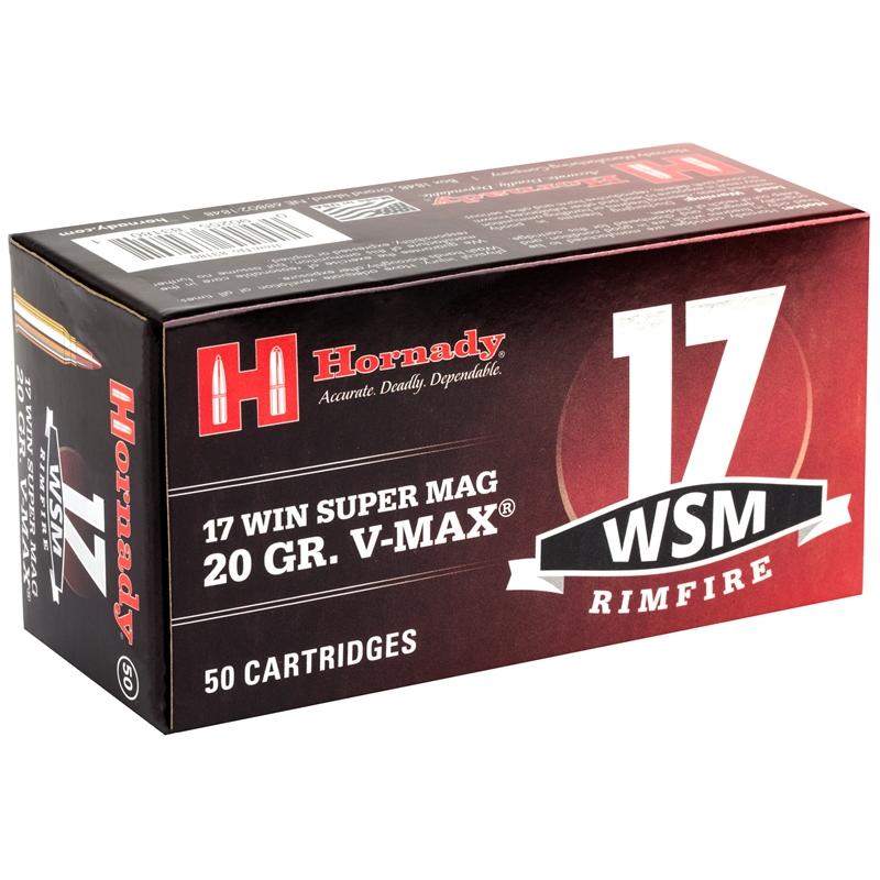 Hornady 17 Winchester Super Magnum Ammo 20 Grain Hornady V Max