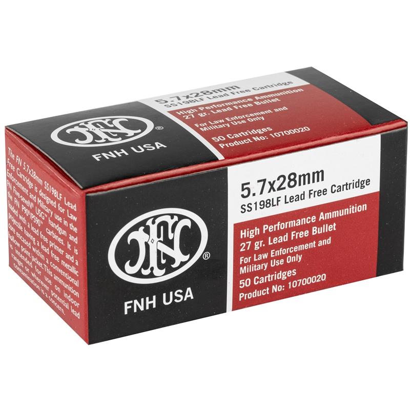 Federal FNH USA LE 5.7x28mm Ammo 27 Grain Green Tip HP