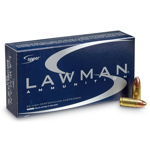 Speer Lawman 9mm Luger Ammo 115 Grain Total Metal Jacket