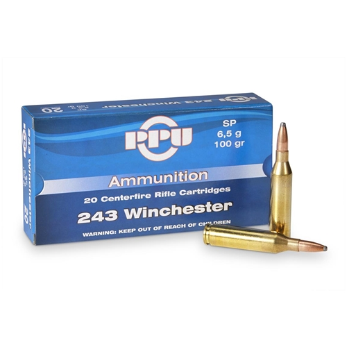 Prvi Partizan 243 Winchester 100 Grain Soft Point Ammunition