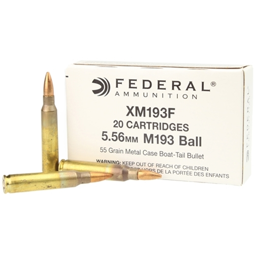 Federal Lake City Ammo 5.56x45mm M193 55 Grain Full Metal Jacket Boat Tail Ammunition