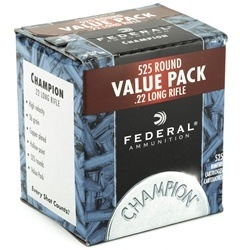 Federal Value Pack Ammunition 22 Long Rifle 36 Grain Copper Plated Hollow Point Box of 550