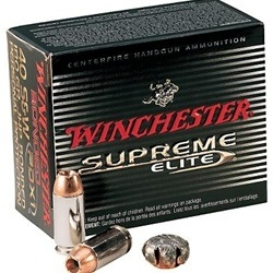 Winchester Supreme Elite Handgun Ammunition 357 Magnum 180 Grain Partition Gold Jacketed Hollow Point Box of 20 Rounds
