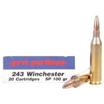 Prvi Partizan Ammunition 243 Winchester 100 Grain Soft Point Box of 20