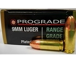 Prograde Range Grade 9mm Luger 124 Grain Plated Round Nose
